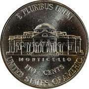 USA 5 Cents Jefferson large facing portrait – Enhanced Monticello Reverse 2006D KM# 381 E PLURIBUS UNUM UNITED STATES OF AMERICA FIVE CENTS MONTICELLO coin reverse