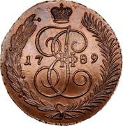Russia 5 Kopeks Ekaterina II (AM) 1789 AM C# 59.2 17 89 І Е II coin obverse