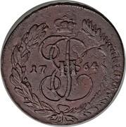 Russia 5 Kopeks Ekaterina II (MM) 1764 MM C# 59.6 І Е II coin obverse