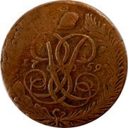 Russia 5 Kopeks Elizaveta (No mintmark) 1759 C# 9.2 coin obverse