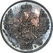 Russia 5 Kopeks SPB 1845 СПБ КБ C# 163 К Б coin obverse