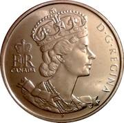 Canada 50 Cents Elizabeth II Golden Jubilee 1952-2002 P KM# 444 EIIR CANADA D. G. REGINA coin obverse