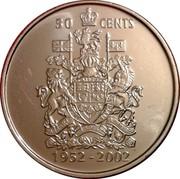 Canada 50 Cents Elizabeth II Golden Jubilee 1952-2002 P KM# 444 50 CENTS 1952-2002 coin reverse