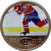 Canada 50 Cents Montreal Canadiens 2010 KM# 940 2009 CH 2010 coin reverse