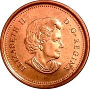 Canada Cent Elizabeth II 4th portrait 2003 P KM# 490a ELIZABETH II D∙G∙REGINA coin obverse