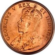 Canada Cent George V 1911 KM# 15 GEORGIVS V REX ET IND:IMP: coin obverse
