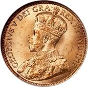 Canada Cent George V 1912 KM# 21 GEORGIVS V DEI GRA: REX ET IND:IMP: coin obverse