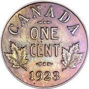 Canada Cent George V small cent 1923 KM# 28 CANADA ONE CENT coin reverse