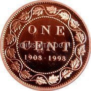 Canada Cent Royal Canadian Mint (1998) Antique finish KM# 309 ONE CENT 1908-1998 coin reverse