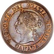 Canada Cent Victoria 1891 S.D.L.L. KM# 7 VICTORIA DEI GRATIA REGINA. CANADA coin obverse