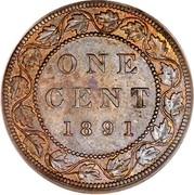 Canada Cent Victoria 1891 S.D.L.L. KM# 7 ONE CENT coin reverse