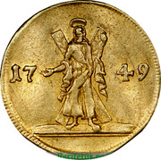 Russia Ducat 1749 C# 31.2 Empire Trade Coinage 1749 coin reverse