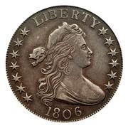 USA Half Dollar Draped Bust 1806 knobbed 6, large stars KM# 35 LIBERTY coin obverse