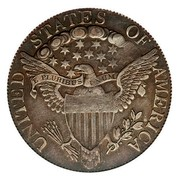 USA Half Dollar Draped Bust 1806 knobbed 6, large stars KM# 35 UNITED STATES OF AMERICA E PLURIBUS UNUM coin reverse