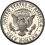 USA Half Dollar Kennedy 1998 S KM# A202b ∙ UNITED STATES OF AMERICA ∙ HALF DOLLAR ∙ E PLURIBUS UNUM coin reverse
