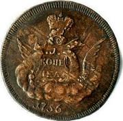 Russia Kopek 1756 C# 3.1 Empire Standard Coinage КОПЕІКА coin reverse