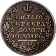 Russia Poltina 1/2 Rouble 1828 СПБ НГ C# 160 ЧИСТАГО СЕРЕБРА 2 ЗОЛОТН. 10½ ДОЛЕЙ С. П. Б. coin reverse