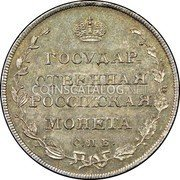 Russia Polupoltinnik (1/4 Rouble) 1809 СПБ МК C# 121a EMPIRE STANDARD COINAGE coin reverse