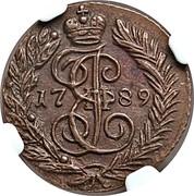 Russia Polushka Ekaterina II (ЕМ) 1789 EM C# 55.3 coin obverse