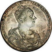 Russia Rouble 1726 KM# 177.1 EMPIRE STANDARD COINAGE coin obverse
