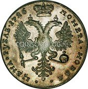 Russia Rouble 1726 KM# 177.1 EMPIRE STANDARD COINAGE coin reverse