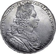 Russia Rouble 1727 KM# 182.1 EMPIRE STANDARD COINAGE coin obverse