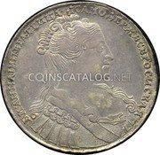 Russia Rouble 1734 KM# 192.3 EMPIRE STANDARD COINAGE coin obverse