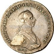 Russia Rouble 1762 ММД C# 47.1 EMPIRE STANDARD COINAGE coin obverse