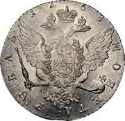 Russia Rouble Ekaterina II (СПБ) 1768 СПБ СА C# 67a.2 1767 МОНЕТА∙ РꙊБЛЬ∙ А Ш coin reverse
