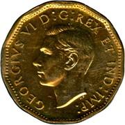 Canada V Cents (George VI Victory) KM# 40 GEORGIVS VI D:G:REX ET IND:IMP: coin obverse