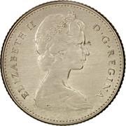 Canada 10 Cents Bluenose sailing 1968 KM# 72a ELIZABETH II D ∙ G ∙ REGINA coin obverse