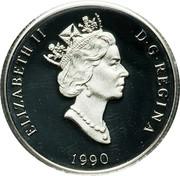 Canada 150 Dollars Polar bear 1990 Proof; in sets only KM# 176 ELIZABETH II D∙G∙REGINA 1990 coin obverse
