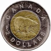Canada 2 Dollars Golden Jubilee 1952-2002 KM# 449 CANADA 2 DOLLARS coin reverse