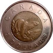 Canada 2 Dollars Polar Bear 2006 (ml) KM# 836 CANADA 2 DOLLARS coin reverse