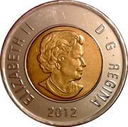 Canada 2 Dollars Test token 2012 KM# 1257 ELIZABETH II D ∙ G ∙ REGINA 2012 coin obverse