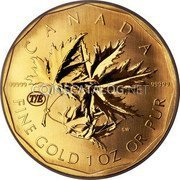 Canada 200 Dollars Gold Maple Leaf 2007 Proof T/E privy mark KM# 750 CANADA 99999 99999 FINE GOLD 1 OZ OR PUR SW T/É coin reverse