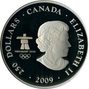 Canada 250 Dollars The Canada Of Today 2009 KM# 949 250 DOLLARS ∙ CANADA ∙ ELIZABETH II ∙ 2009 VANCOUVER 2010 TM / MC coin obverse