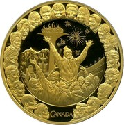 Canada 300 Dollars Friendship 2009 Proof KM# 911 CANADA coin reverse
