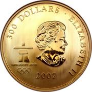 Canada 300 Dollars Olympic Ideals 2007 Proof KM# 752 300 DOLLARS ∙ ELIZABETH II 2007 coin obverse