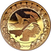 Canada 300 Dollars Olympic Ideals 2007 Proof KM# 752 CANADA coin reverse