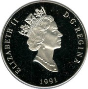 Canada 300 Dollars Snowy Owl 1991 Proof KM# 201 ELIZABETH II D∙G∙REGINA 1991 coin obverse