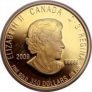 Canada 350 Dollars Pitcher Plant 2009 Proof KM# 901 ELIZABETH IICANADAD · G · REGINA 2009 .99999 FINE GOLD 350 DOLLARS OR PUR coin obverse