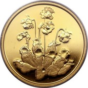 Canada 350 Dollars Pitcher Plant 2009 Proof KM# 901 JW coin reverse