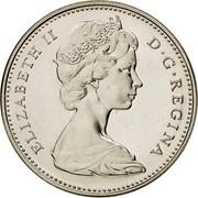 Canada 5 Cents Beaver 1968 KM# 60.1 ELIZABETH II D ∙ G ∙ REGINA coin obverse