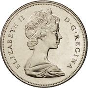 Canada 50 Cents Elizabeth II 2nd portrait 1968 KM# 75.1 ELIZABETH II D∙G∙REGINA coin obverse
