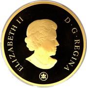 Canada 500 Dollars Elizabeth II Wedding 2007 KM# 710 ELIZABETH II D ∙ G ∙ REGINA coin obverse
