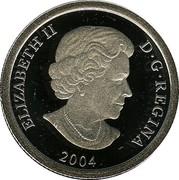 Canada 75 Dollars Grizzly bear 2004 Proof KM# 1106 ELIZABETH II D • G • REGINA 2004 coin obverse