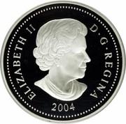 Canada 8 Dollars Grizzly Bear 2004 Proof KM# 515 ELIZABETH II D ∙ G ∙ REGINA 2004 coin obverse
