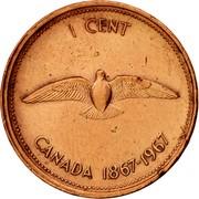 Canada Cent Confederation (1967) KM# 65 1 CENT CANADA 1867-1967 coin reverse