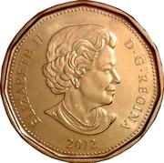 Canada Dollar Loonie 2012 KM# 1255 ELIZABETH II D ∙ G ∙ REGINA 2012 coin obverse